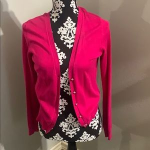New York and Co Pink Button up Cardigan